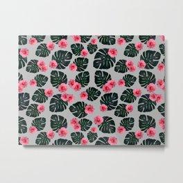 Tropical pattern n.1 - grey Metal Print