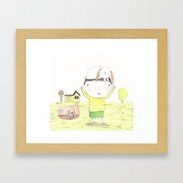 Jacko and Bunbun Framed Art Print
