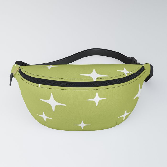 Mid Century Modern Star Pattern 443 Chartreuse Fanny Pack