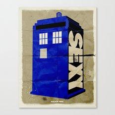 Minimalist Doctor Who  - SEXY TARDIS Canvas Print