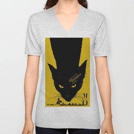Vintage poster - Black Cat Unisex V-Neck