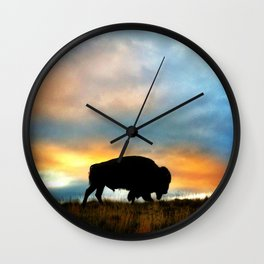 Tatanka Wall Clock