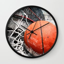 Modern Basketball Art 8 Wall Clock