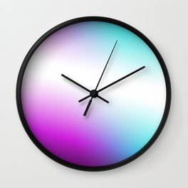 Vibrant Turquoise and Magenta Gradient Wall Clock