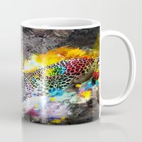 leopard Mugs featuring LEOPARD by sametsevincer