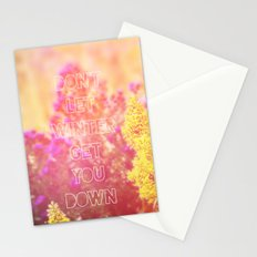 Don't Let Winter Get You Down Stationery Cards