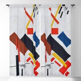 12,000pixel-500dpi - Kazimir Severinovich Malevich - Stroyuschiysya Dom - Digital Remastered Blackout Curtain