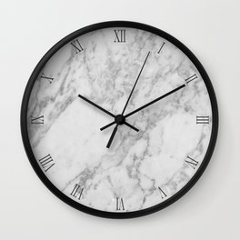 Marble Clock with Numbers Wall Clock