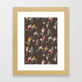 hurry up! Framed Art Print