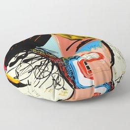 Quatre portraits en un Floor Pillow