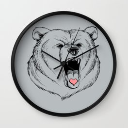 Universal Language Bear Love Wall Clock