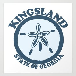 Kingsland - Georgia. Art Print