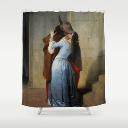The Kiss by Francesco Hayez Shower Curtain