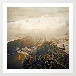 explore. golden Art Print