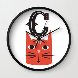ABC's - Illustrated Alphabet Wall Clock