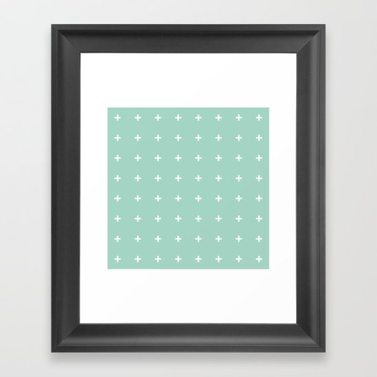Mint Cross // Mint Plus ///www.pencilmeinstationery.com Framed Art Print