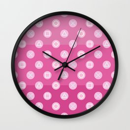 Pink Gamer Girl Wall Clock