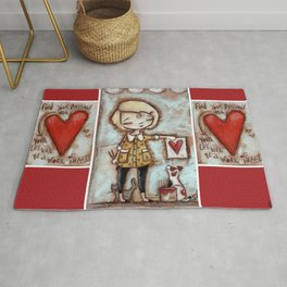 Work of Heart by Diane Duda Rug