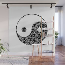Perfect Balance 1 - Yin and Yang Stone Rock'd Art by Sharon Cummings Wall Mural