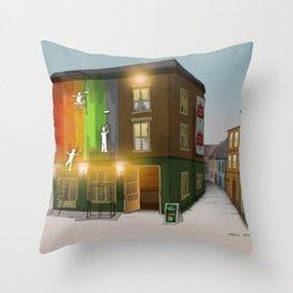 London Colors Throw Pillow