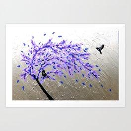 purple and gray art Art Print