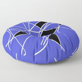 Black blue and white Floor Pillow