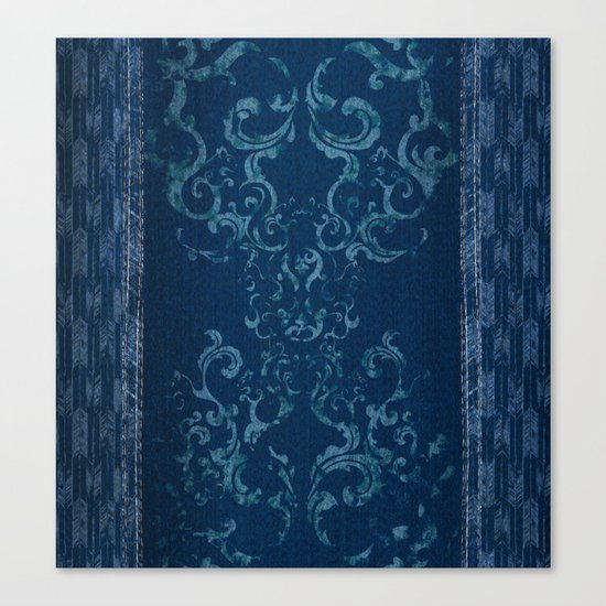 Squirrely Chambray Canvas Print