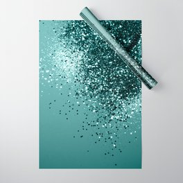 Teal Mermaid Ocean Glitter #1 #shiny #decor #art #society6 Wrapping Paper