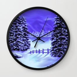 Moon Over The Mountain Wall Clock