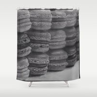 macaroons Shower Curtains featuring macaroons by Amit Naftali