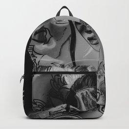Negative Filipino princess - black and white Backpack