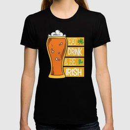 Eat Drink & Be Irish Beer Lucky Charm T-shirt
