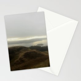 Hiking in fog Stationery Cards