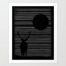 Night Lines Art Print