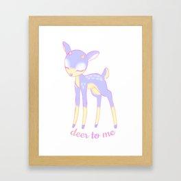 Deer to me Framed Art Print