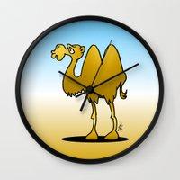 camel Wall Clocks featuring Camel by Cardvibes.com - Tekenaartje.nl