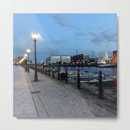 Albert Dock At Dusk Metal Print