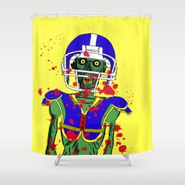 Zombie Football Player Shower Curtain