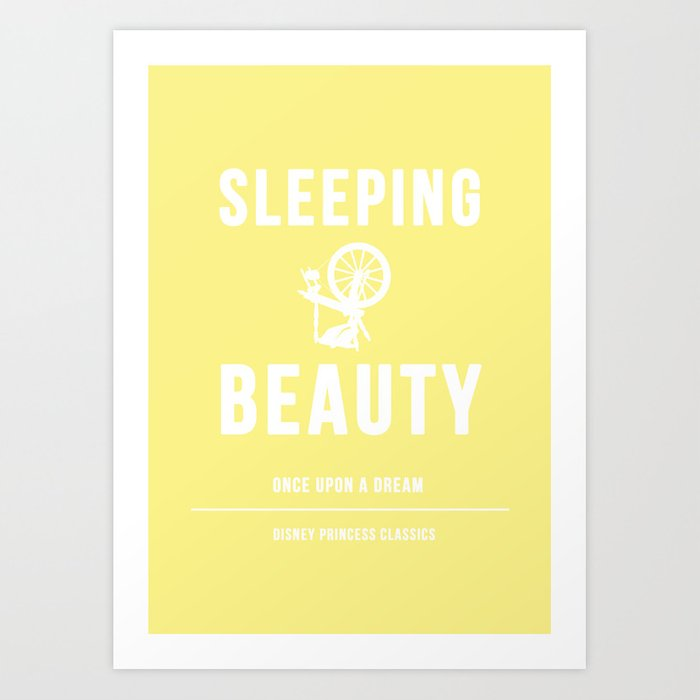 disney princesses sleeping beauty minimalist art print by