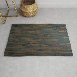 Beautifully patterned stained wood Rug