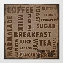 Vintage breakfast Canvas Print