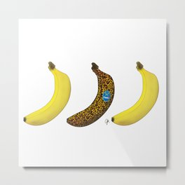 Cheetah Banana Metal Print