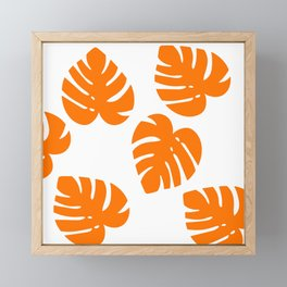 Orange Palm Framed Mini Art Print