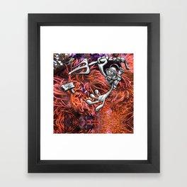 Gone Fishing Orange Royal Stain Framed Art Print
