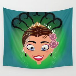 Tuti-Lady Flamenquerías/Character & Art Toy (Open eyes) Wall Tapestry