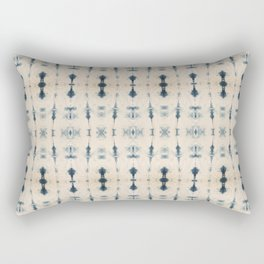 Light Indigo Shibori Rectangular Pillow