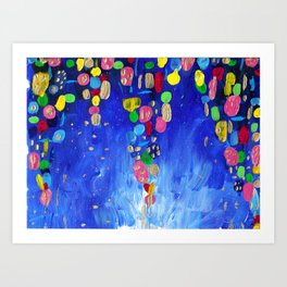 Abstract Colorful Candy Cave Art Print