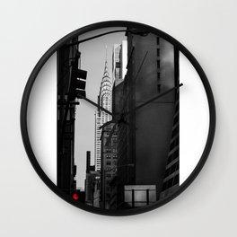 Chrysler Building Stop sign Wall Clock