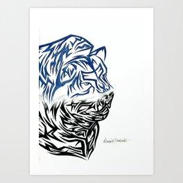 Tribal Lion Art Print