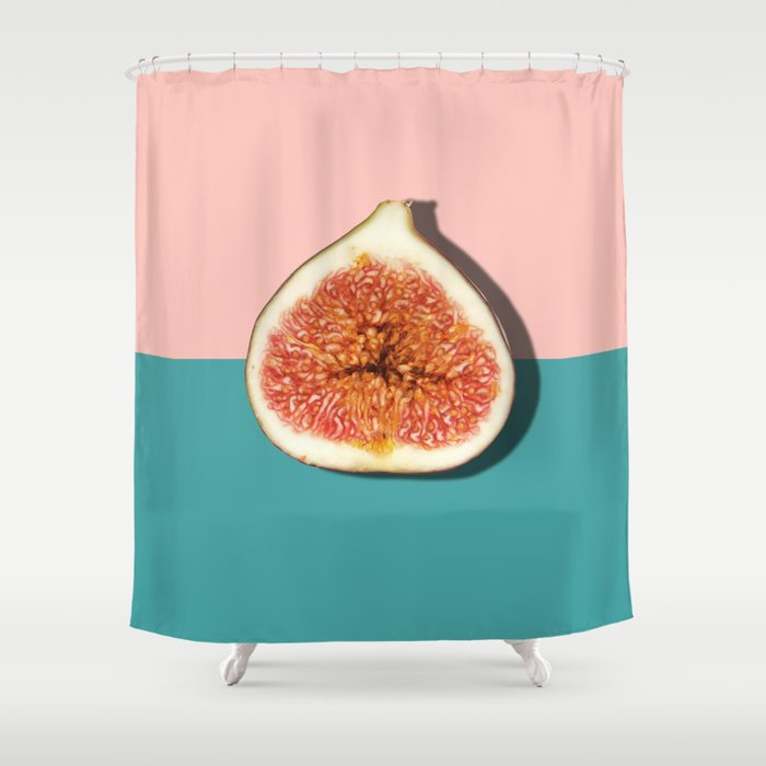 Half Slice Fruit Shower Curtain By Printsproject